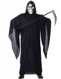Skelett-Sensenmann Halloween-Kostüm schwarz-weiss