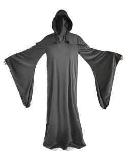 Sensenmann Halloween-Kostüm Gesichtsloser Tod schwarz
