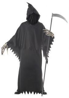 Gesichtsloser Tod Sensenmann Halloween-Kostüm schwarz