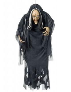 Hexe Riesen-Halloween-Hängedeko schwarz-weiss 140cm