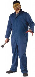Zombie Mechaniker Halloween Kostüm blau