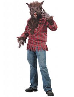 Werwolf Halloween-Kostüm rot-braun