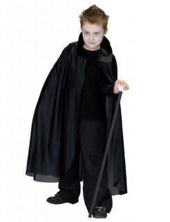Vampir Umhang für Kinder schwarz