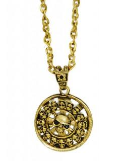Piratenmedaillon gold 5cm