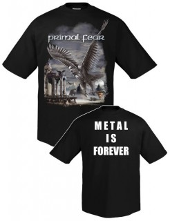 Primal Fear T-Shirt Metal is Forever Bandshirt schwarz-weiss