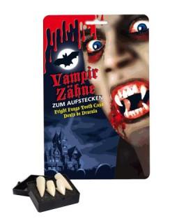 Vampir-Aufsteck-Zähne Deluxe 4 Stück weiss