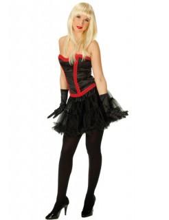 Corsage Kostüm schwarz-rot