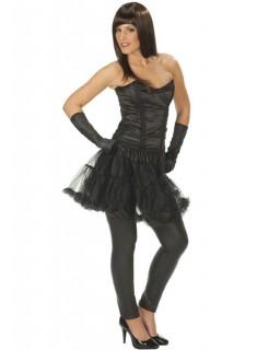 Gothic Burlesque Corsage schwarz