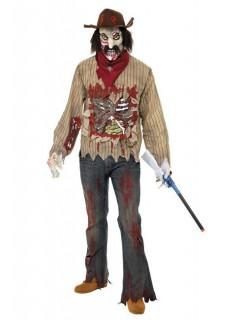 Zombie Cowboy Halloween-Kostüm beige-rot