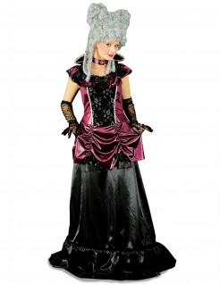 Barock-Vampirin Damenkostüm schwarz-lila