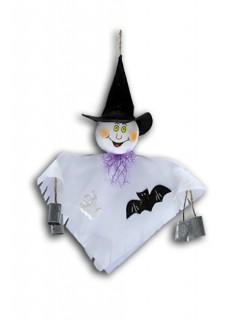 Kleiner Geist Halloween-Hängedeko Gespenst weiss 33cm