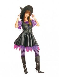 Gothic Hexen-Kostüm für Damen schwarz-lila