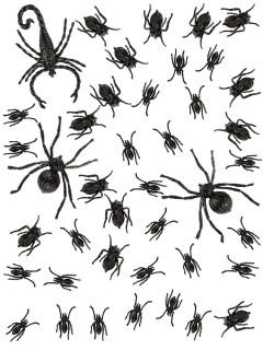 Ameisen Spinnen und Skorpion Halloween Deko-Set 43-teilig schwarz
