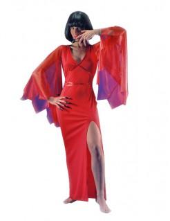 Vampir-Lady-Damenkostüm für Halloween rot