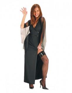 Gothic-Vampirkostüm für Damen Halloweenkostüm schwarz