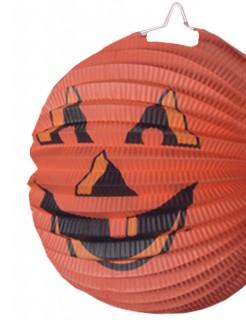 Halloween Deko Kürbis Lampion Laterne 22cm orange