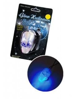 Totenschädel-Anhänger blau leuchtend