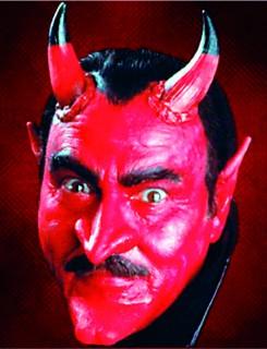 Latex-Applikation Teufels-Nase und Teufels-Kinn rot