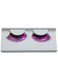 Wimpern Metallic pink