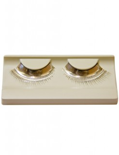 Künstliche Wimpern metallic-silber