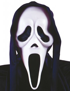 Scream Geister Maske Lizenzware schwarz-weiss