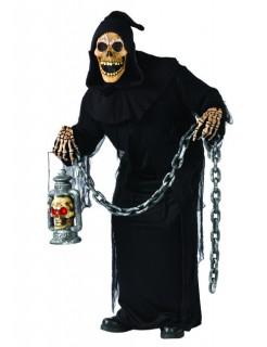 Ghoul-Skelett-Kostüm schwarz
