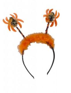 Haarreif mit Glitter-Spinnen orange-gold