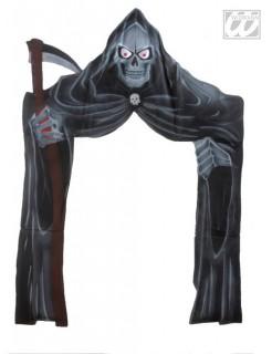Sensenmann Tür-Deko schwarz-grau 208x147cm