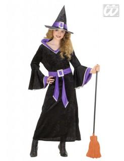 Zauberhafte Hexe Halloween Kostüm für Kinder schwarz-lila