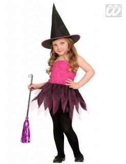 Niedliche Hexe Kinderkostüm schwarz-pink-lila