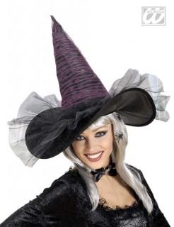 Leuchtender Hexen-Hut schwarz-pink