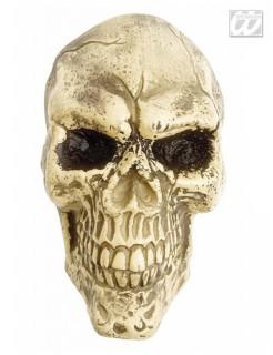 Totenkopf Halloween Wanddeko Skull beige 14x14x8cm