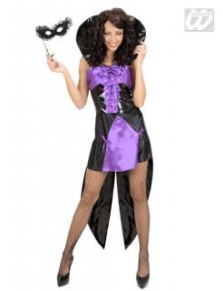 Gothic Vampirin-Damenkostüm schwarz-lila