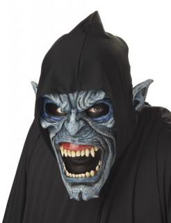 Ani-Motion Unterweltmensch Halloween-Maske blau-grau