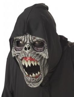Ani-Motion Zombiemeister Halloween-Maske grau-beige