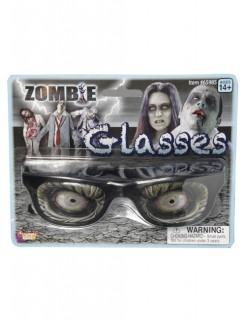 Zombie Brille Halloween-Accessoire schwarz-grau 16,5x12,5x2,5cm