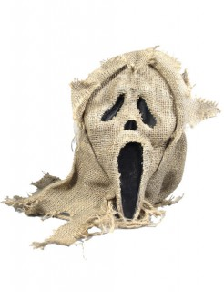 Scream Maske mit Jute braun