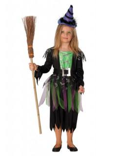 Hexen-Kinder-Kostüm schwarz-grün