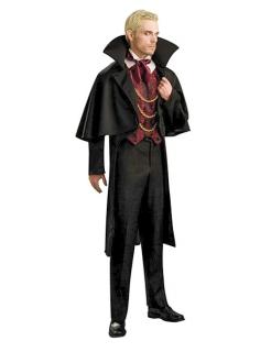 Vampir Baron Kostüm schwarz-rot