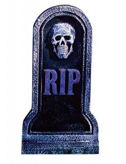 Halloween Deko Grabstein Skelett RIP schwarz-grau 20 x 40 cm