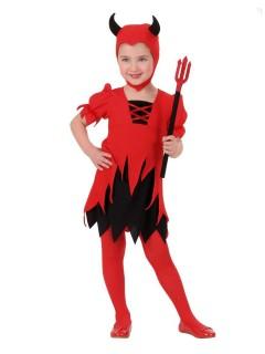 Kleiner Teufel Kinder-Kostüm rot-schwarz