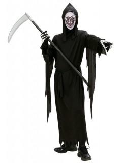Sensenmann Kinder-Kostüm Halloween schwarz