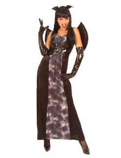 Gothic Vampir Lady Damen-Kostüm mit Flügeln schwarz