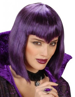 Gothic Vampir-Perücke Halloween violett
