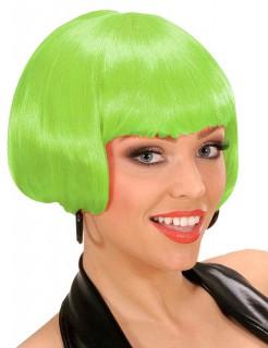 Kurzhaar-Bob-Perücke für Damen neongrün
