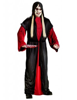 Mittelalter Serienkiller Halloween-Herrenkostüm schwarz-rot