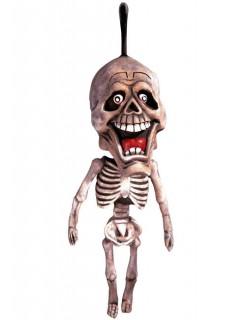 Hängefigur Skelett Halloween-Deko beige 60cm