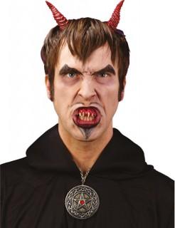 Halloween Schnellmaskierung Set Dämon rot-weiss