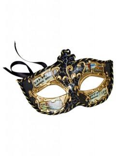Venezianische Ornament Augenmaske schwarz-gold