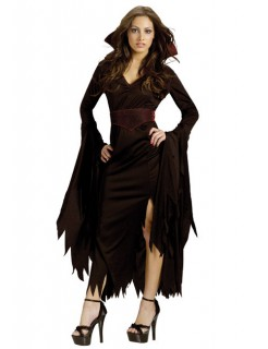 Gothic Vampirin Halloween Damenkostüm schwarz